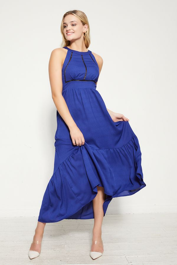HALTER NECK MAXI DRESS  (325413)