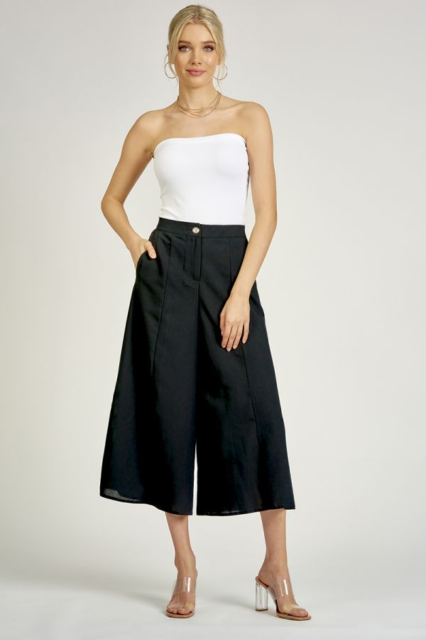 LINEN LIKE WIDE PANTS (325416)