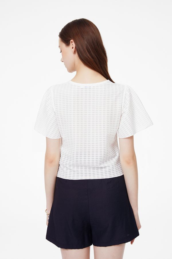 FRONT SLIT RUCHING TOP (325418)
