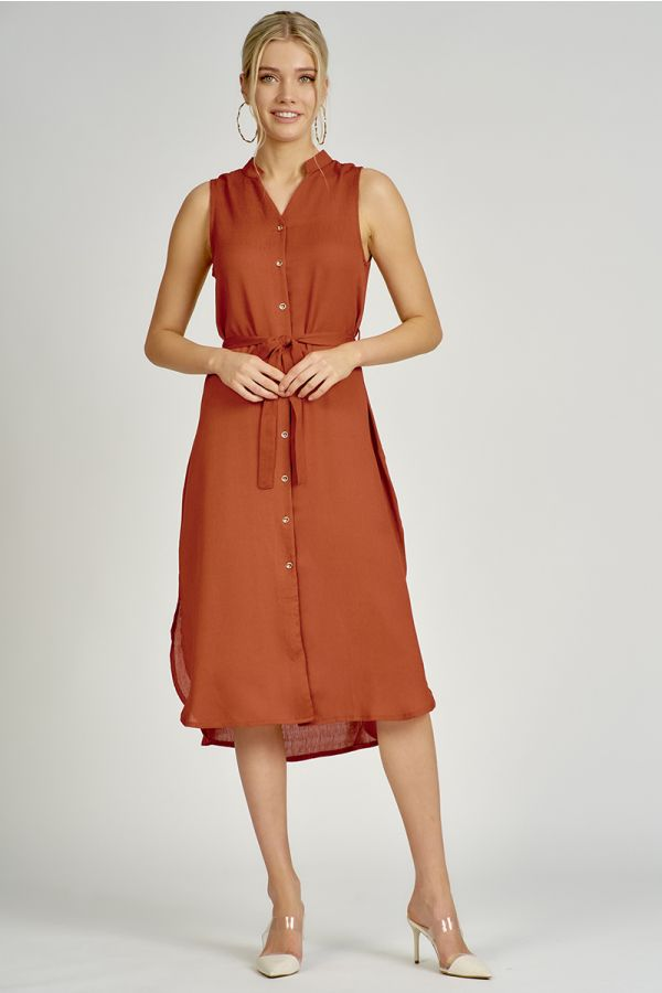 BELTED MIDI SHIRTDRESS (325463)