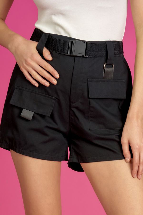 BELTED CARGO SHORTS  (325487)