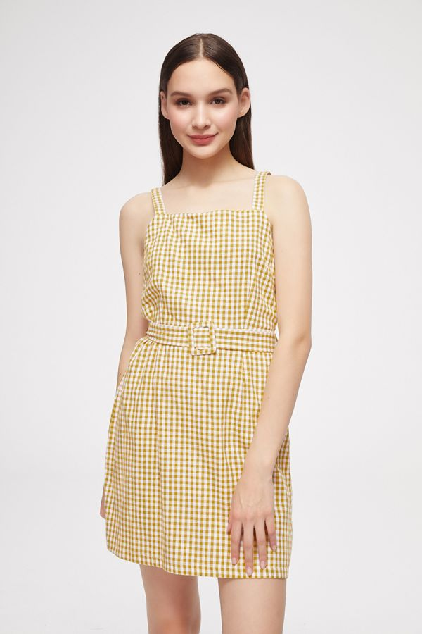 CHECK PINAFORE DRESS (325529)