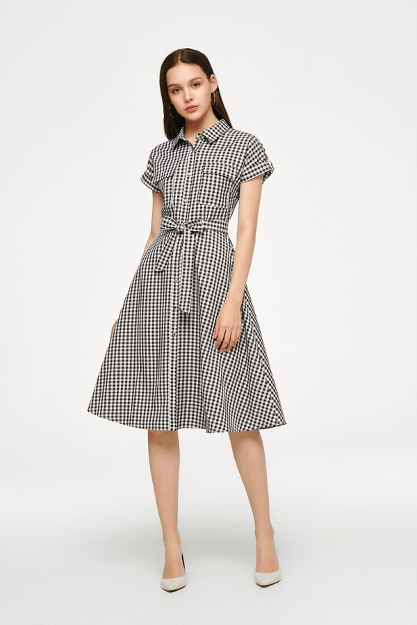 MARION BUTTON DOWN SHIRT DRESS (325540)