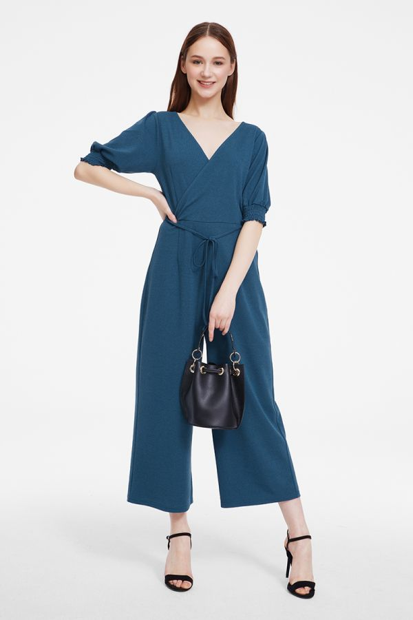 VOLUME SLEEVE JUMPSUIT (325571)