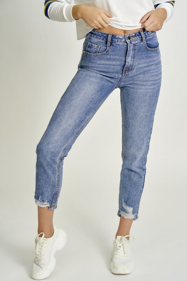 WASHED DENIM PANTS (325574)