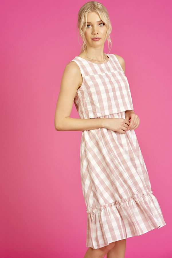 GINGHAM CHECK DRESS  (325602)
