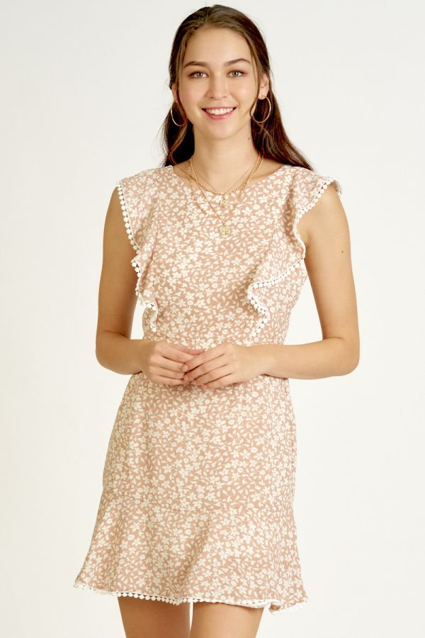 FRILL SLEEVE FIT&FLARE DRESS (325611)