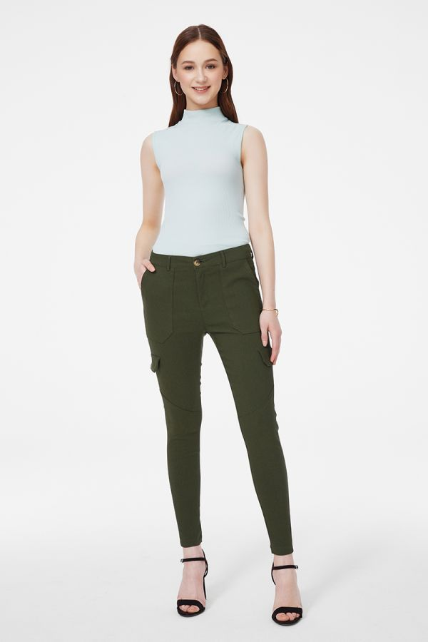 CARGO POCKET SLIM PANTS (325615)