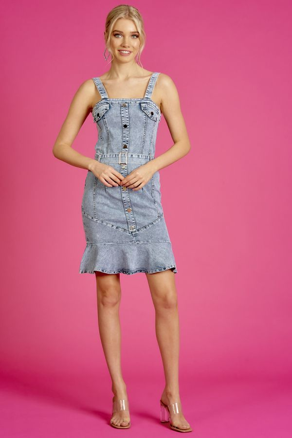 BODY FITTED DENIM DRESS  (325633)