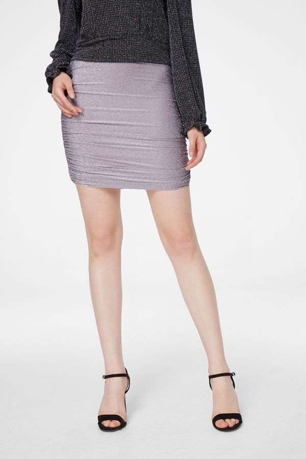 METALLIC JERSEY SKIRT (325691)