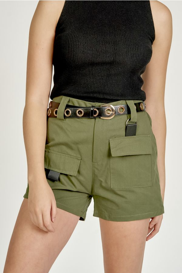 STUDDED HIGH WAIST BELT (325941)