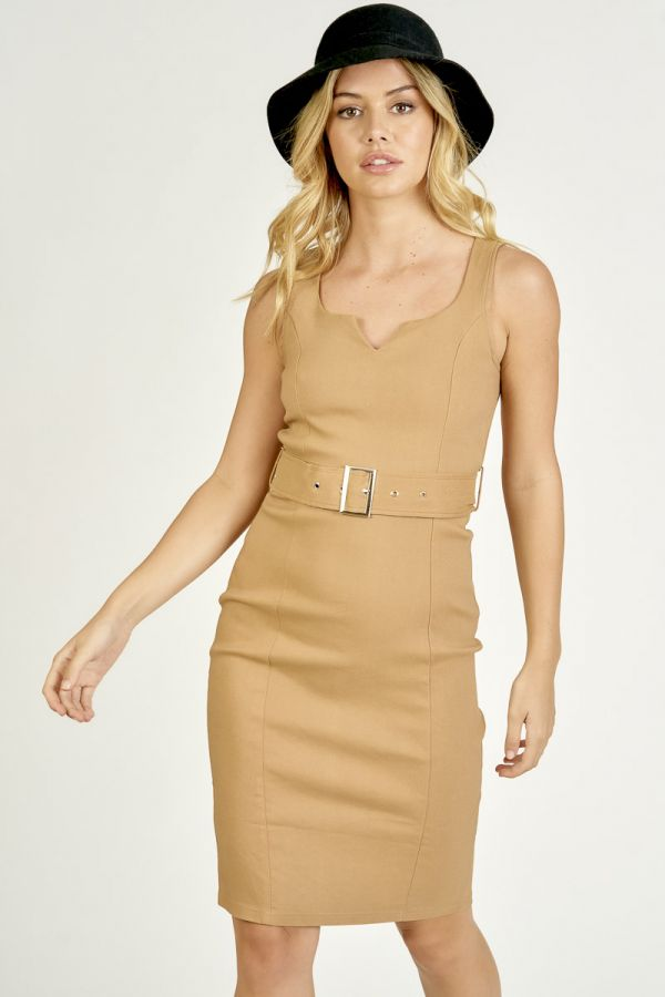 BELTED BODY CONSCIOUS DRESS (325985)