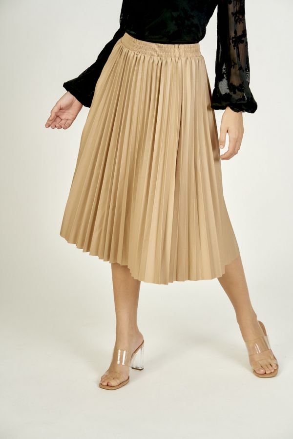 PU PLEATED SKIRT (325999)