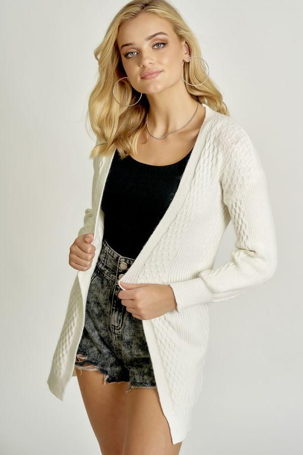 CABLE KNIT CARDIGAN (326105)