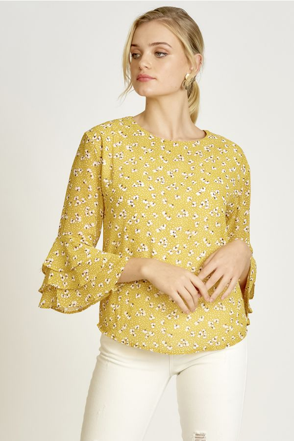 FRILL SLEEVE TOP  (326144)