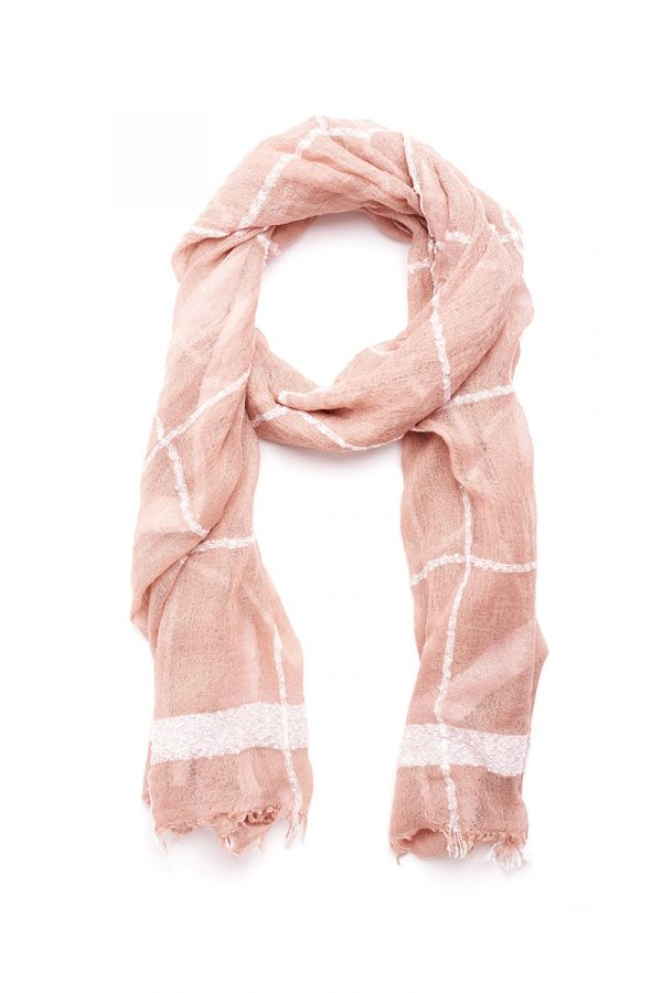 Rose Checked Lightweight scarf