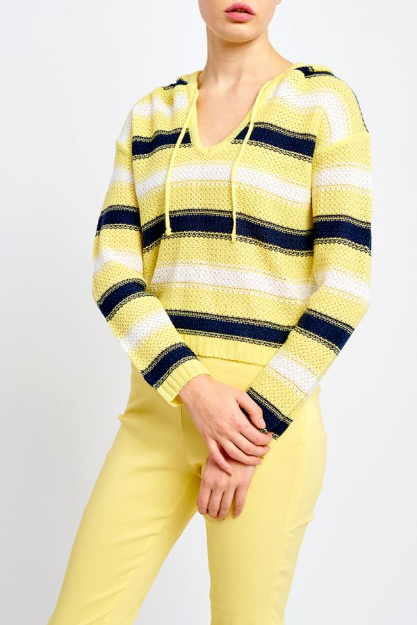 RONNIE HOODED KNIT TOP