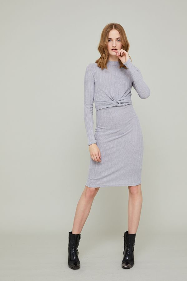 LARA KNOT DETAIL MIDI DRESS