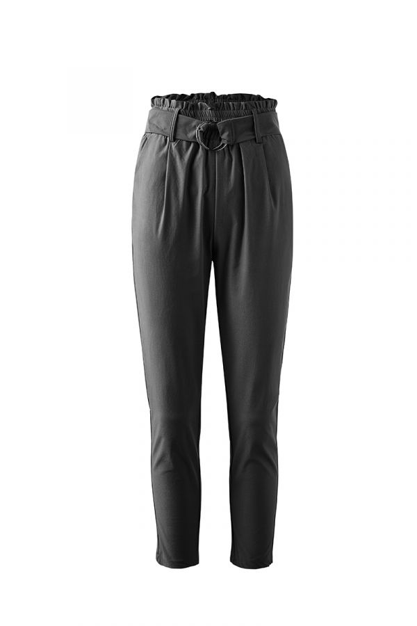 VALENTINA GATHERED HIGH WAIST PANT