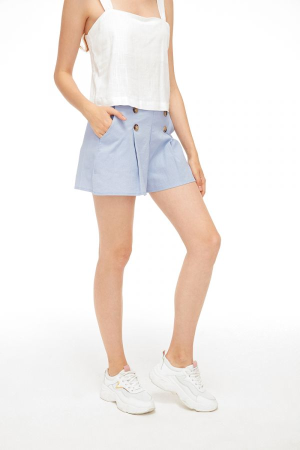 JOAN BUTTON DETAIL SHORTS