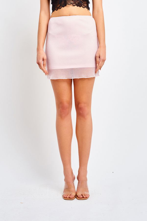 MESH OVERLAY MINI SKIRT