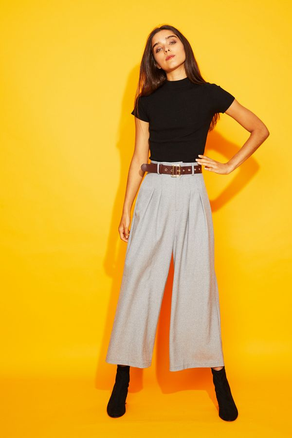 EVALIAH WIDE LEG PANTS WITH BELT