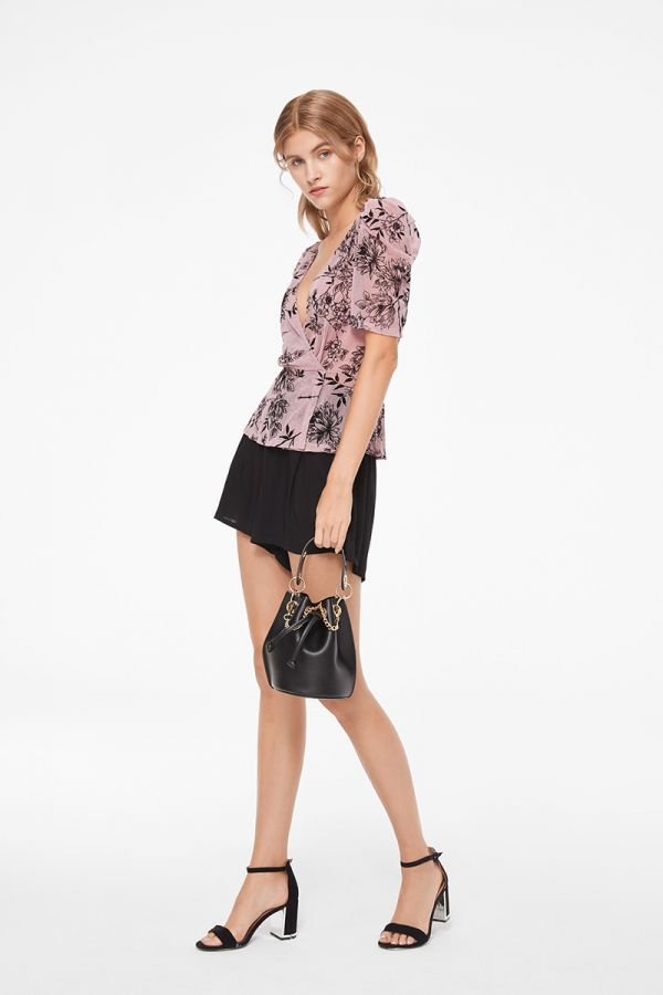 LUCILLE SHEER OVERLAY BLOUSE