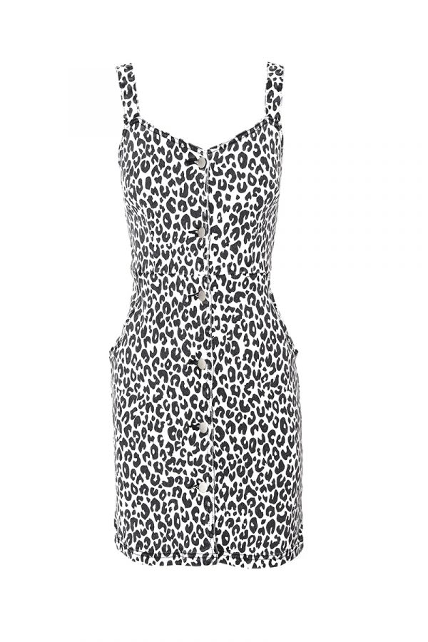 GERTRUDE LEOPARD PRINT DRESS