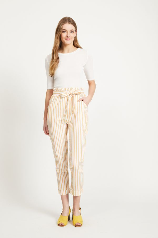 DAISY STRIPE PEG PANTS