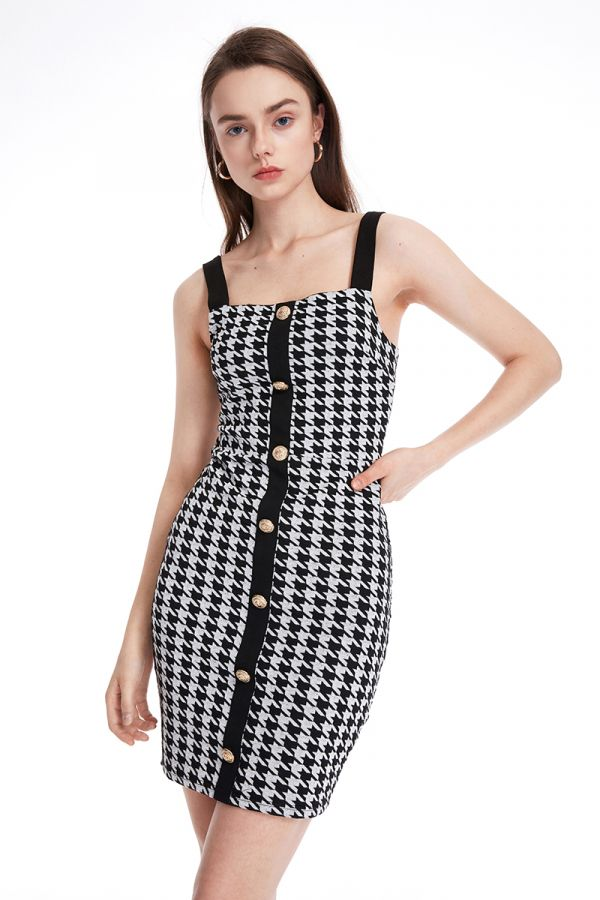 FRIDA TANK DRESS WITH BUTTONS