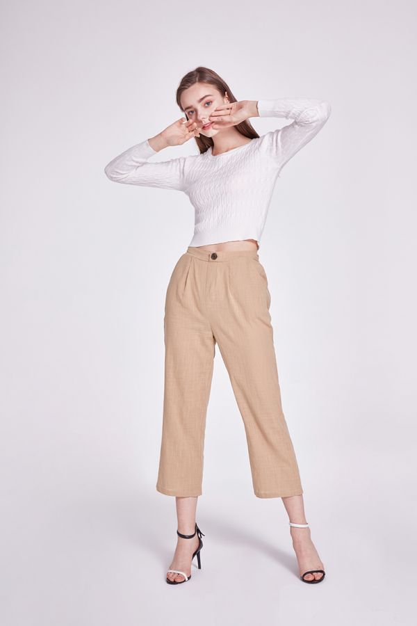 CRYSTAL PANT WITH GATHER AND POCKET