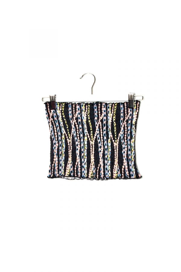 TIA SMOCK TUBE TOP